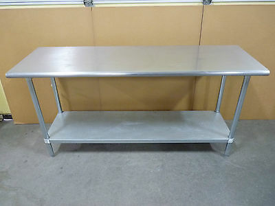 6 foot Stainless Steel Table with lower shelf