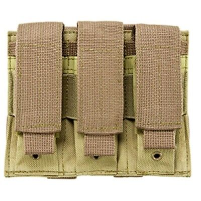 NcSTAR TAN Triple MOLLE PALS Pistol Mag Magazine Pouch Holster M9 1911 9mm 45cal