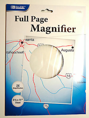 Full Page Opitical Grade Reading Magnifier New Shatterproof Scratch Resistant