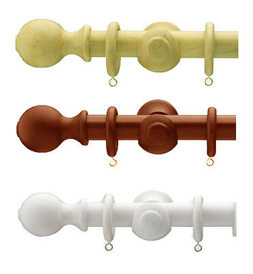 23mm wooden curtain pole choice of colours & sizes