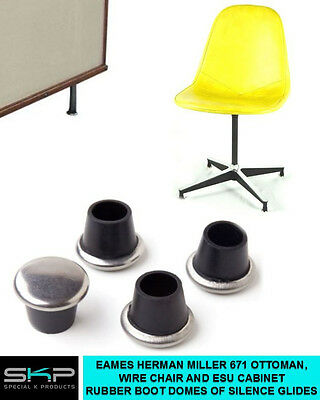 Glides For Eames H. Miller Lounge Ottoman 671, Wire Chair Or Esu - Feet - Parts