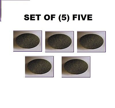 "17"" Floor Maintenance Pads (5) Black Stripping Buffing Black Pad Case Of 5 New"