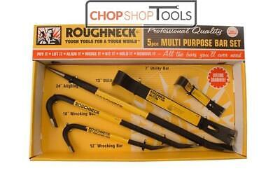 Roughneck Multi-Purpose Bar Set 5 Piece, crowbar, wrecking bar ROU64965