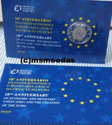 Portugal 2 Euro Gedenkmünze 2009 UEM EMU 10 Jahre WWU Coin Set Blister Official