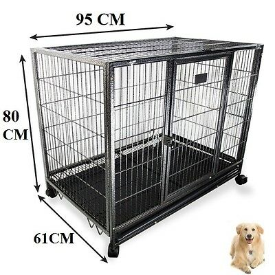 XL New Portable Large Dog Cage Puppy Playpen Collapsible Enclosure Kennel Wheels