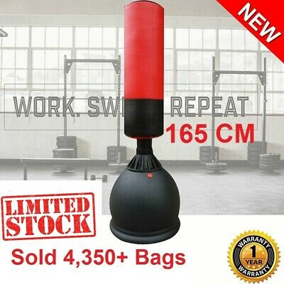 New 165Cm Home Gym Boxing Bag Target Free Standing Punching Dummy Kick Martial