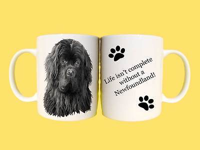 Newfoundland dog ceramic mug gift with choice of 7 captions