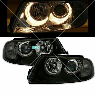 VW Passat 3BG 3B3 Limousine Kombi Angel Eyes Scheinwerfer Set 09/00-05/05 Black