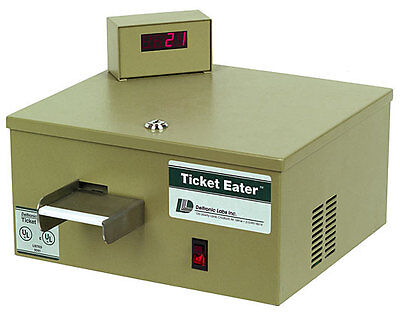 New DL5000 Table Top Ticket Eater and Counter