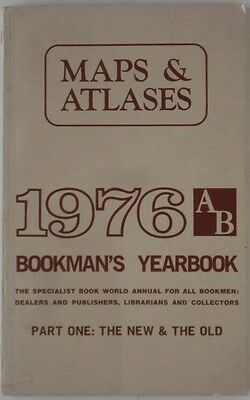 1976 AB Bookman's Yearbook MAPS ATLASES Rare Book Manuscript Collections Part 1