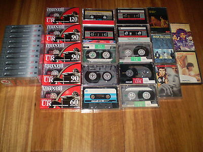 30 tape lot   15 factory  sealed new  +10  used + 5 rock tapes    mc116
