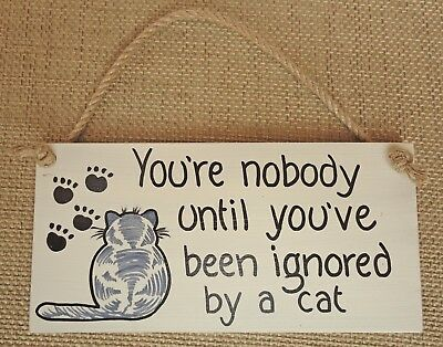Shabby Chic Wall Plaque Sign Cat Lover Gift Friend Birthday Christmas Pet