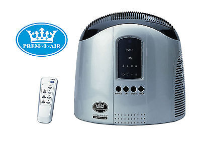 Prem-I-Air Home Office Hepa Air Purifier with Ioniser, Remote & LED Display