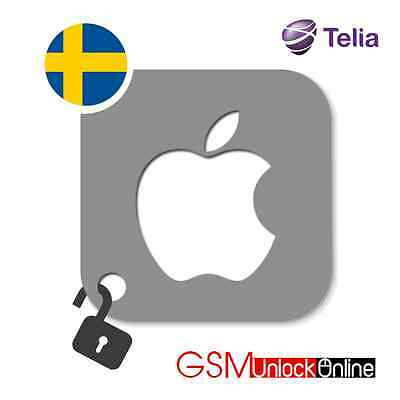 Factory Unlocking Service For iPhone 4 4S 5 5S 5C 6 6+ 6S 6S+ 7 7+ Telia Sweden