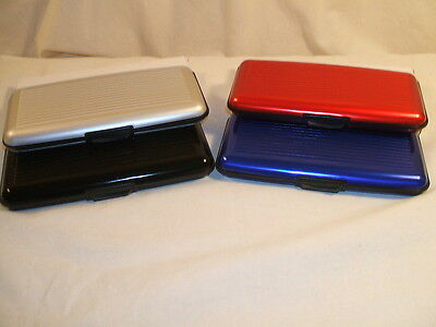 X-TRA LARGE DELUXE ALUMA STYLE ALUMINUM WALLET 6 1/2 INCHES WIDE
