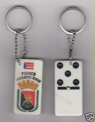 "PUERTO RICO ""PONCE"" DOMINOES KEYCHAIN"