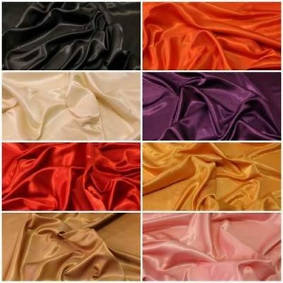 Faux Dupion Raw Silk Curtain Polyester Satin Back Dress Two Sided Fabric