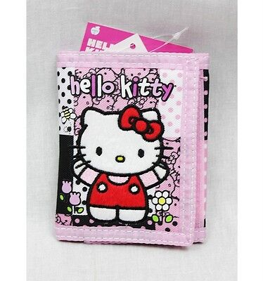 dc6bf658e7 NWT Hello Kitty by Sanrio Trifold Wallet Black Pink Newest Style Licensed