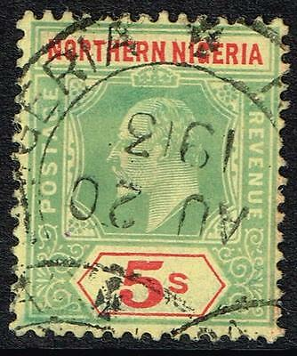 NORTHERN NIGERIA, 1911 5/- green & red, superb used, SG#38, cv£75