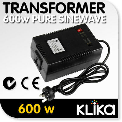 600W Sinewave Step Down Transformer Electric Voltage Converter 240V-120V AC