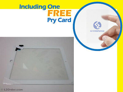 NEW White Panel Digitizer Touch Screen LCD Glass with Middle Bezel For iPad 2