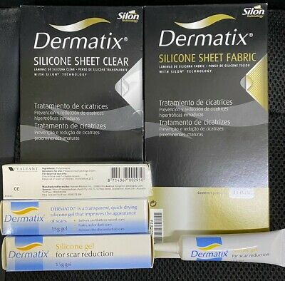 Dermatix Silicone Sheet Fabric And Clear 1 Piece Scar Scars Reduction Mepiform