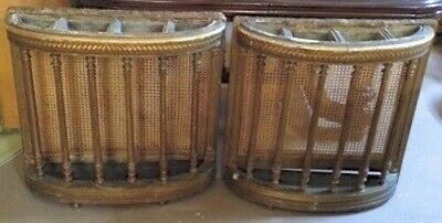 Pair of Antique French Fernieres | Giltwood & Caning