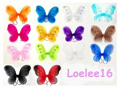 "12"" x 10 3/4"" Butterfly Angel Fairy Wing for Baby Infant Toddler Child Costume"