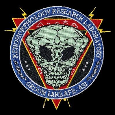Xenomorphology Research Laboratory - Groom Lake Afb -  Area 51 - Usaf Patch