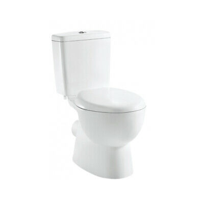 Toilet Suite New WELS P Trap Fully Ceramic Close Couple with Soft Closing Seat