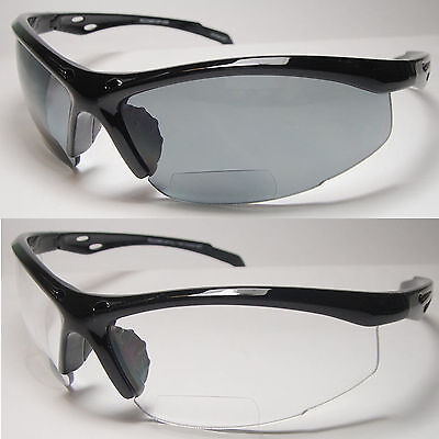 Bifocal Reading Safety Sun Glasses Clear - 038Bf-1.00,1.50, 2.00, 2.50, 3.00