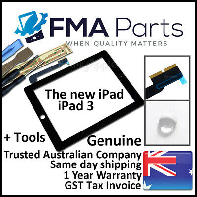 iPad 3 OEM Black Touch Screen Glass Digitizer Front Replacement The New 3G Tools