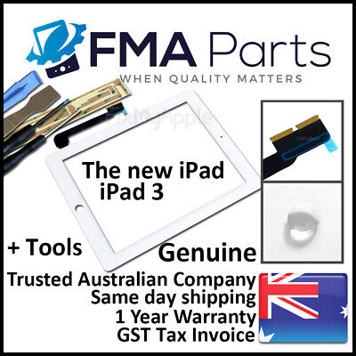 iPad 3 OEM White Touch Screen Glass Digitizer Front Replacement The New 3G Tools