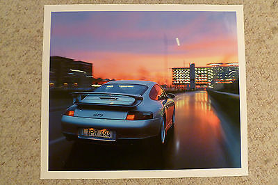2001 Porsche 911 GT3 Showroom Advertising Poster RARE!! Awesome L@@K
