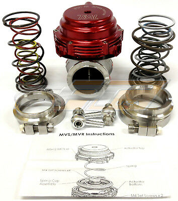 Tial MVR 44mm Wastegate With V- Band Flanges All Springs Pressure Included (Red)