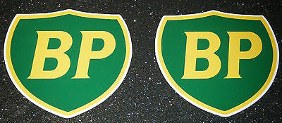 2 X Bp Shield Oil Vinyl Sticker Decal Classic Sports Car Racing Rally  Freepost