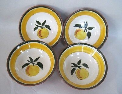 "Four 1961 Stangl Pottery Festival 5.5"" Cereal Bowls"