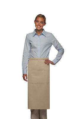 Daystar Apron 1 Style 123 Three pocket full bistro apron ~ Made in USA