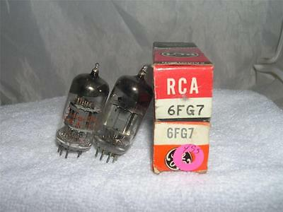 Lot Of 2 Vintage Electronic Vacuum Tubes General Electric Silvertone 6FG7 NOS