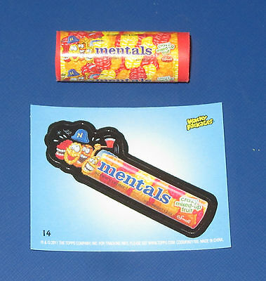 WACKY PACKAGES ERASER SERIES 2 MENTALS #14 WITH MATCHING STICKER