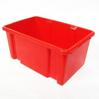 Red Plastic Kids Childrens School Classroom Stacking Shelf Storage Bins Boxes
