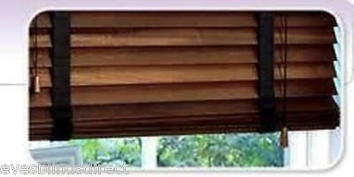 Premium Made To Measure Walnut Wooden Venetian Blind 50Mm With Tapes Real Wood