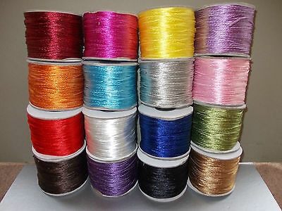5 or 10 METRES OF NYLON CORD STRING,ALL COLOURS 2-3mm, JEWELLERY MACRAME CRAFTS