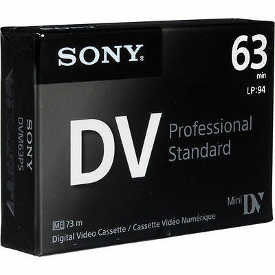 Sony DVM 63 Pro Mini DV Camcorder Tapes SP63 Wedding Recording Professional