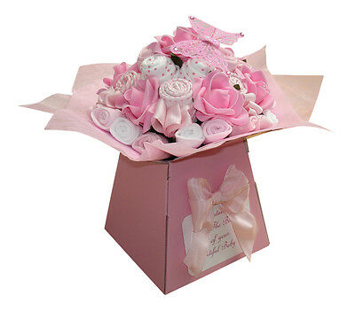 Baby Bouquet 19 items of Baby Clothes - Baby Shower Gift - Nappy Cake -Baby Girl