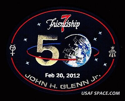 "FRIENDSHIP 7-50th ANNIVERSARY -JOHN GLENN- ORIGINAL- 6"" -Gagnon NASA SPACE PATCH"