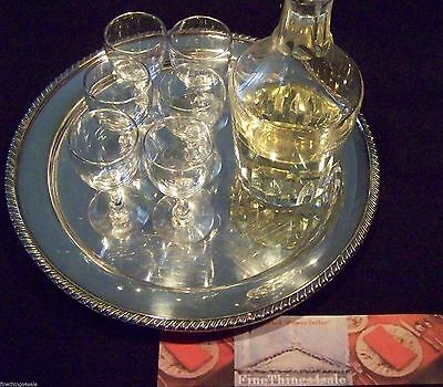 ANTIQUE CRYSTAL GLASS APERITIF or SHERRY SIZED GOBLET SET - VIEW FineThings4sale
