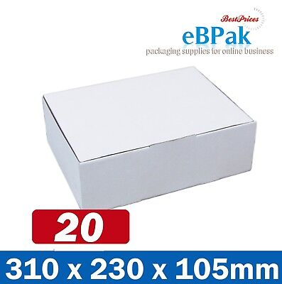 20x Mailing Box 310x220x102mm Diecut Carton 310x230x105mm * A4 BM BX2 Size