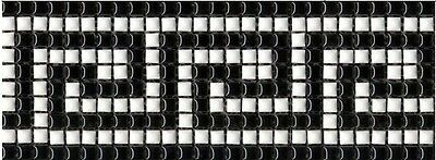 One piece of 296mm x  108mm Feature Mosaic Tile Borders - Greek Key