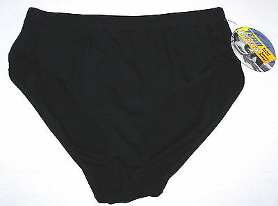 New Capezio Team Basics Brief Black Traditional Rise + Leg Stretch Adult Plus